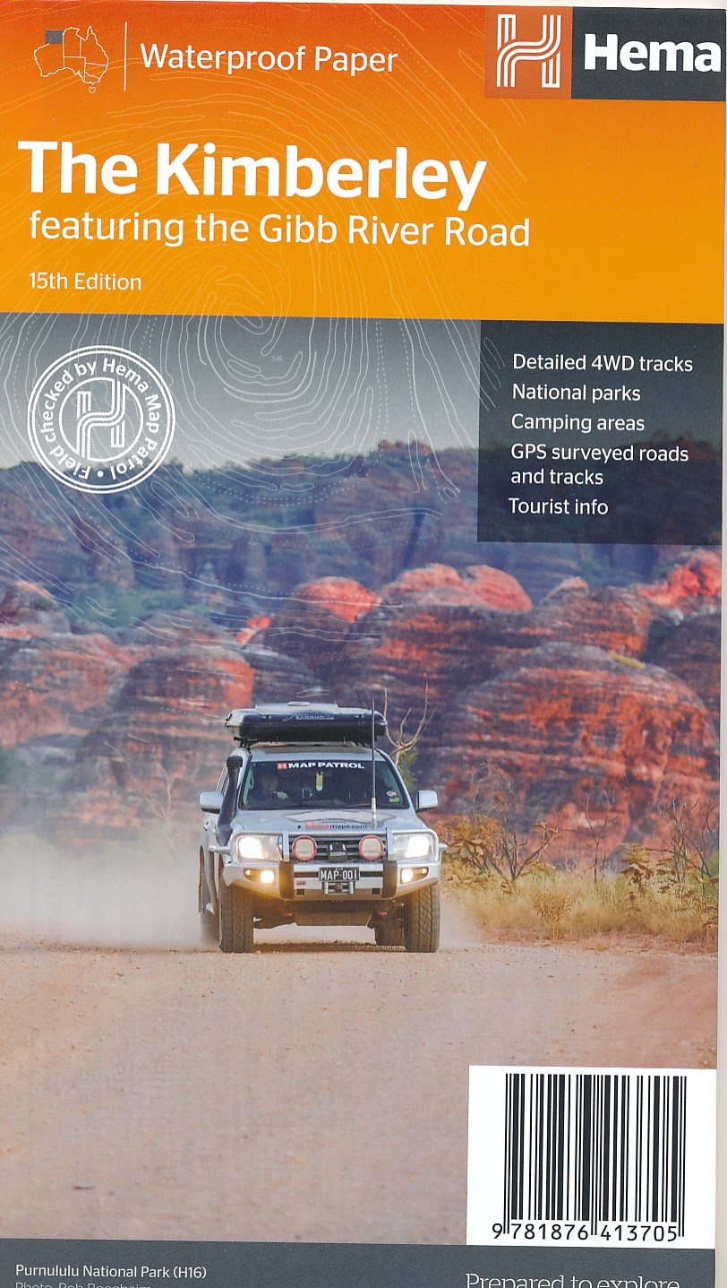 Wegenkaart - landkaart The Kimberley - Gibb River road | Hema Maps