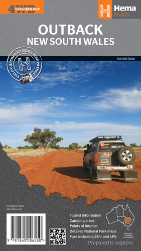 Wegenkaart - landkaart Outback New South Wales | Hema Maps