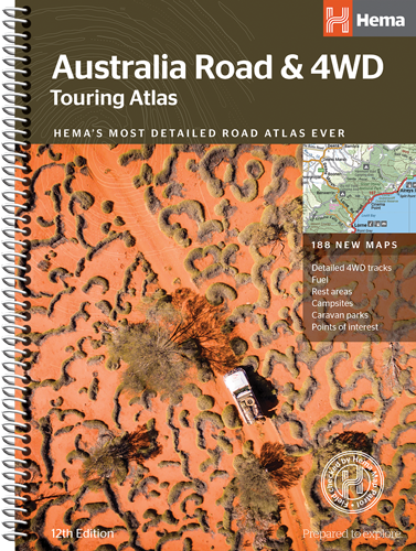 Wegenatlas - Australië -Touring Atlas Australia (ringband) | Hema Maps