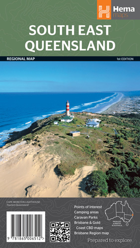 Wegenkaart - landkaart South East Queensland | Hema Maps