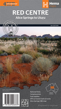 Wegenkaart - landkaart The Red Centre - Alice Spring to Uluru - Australië | Hema Maps