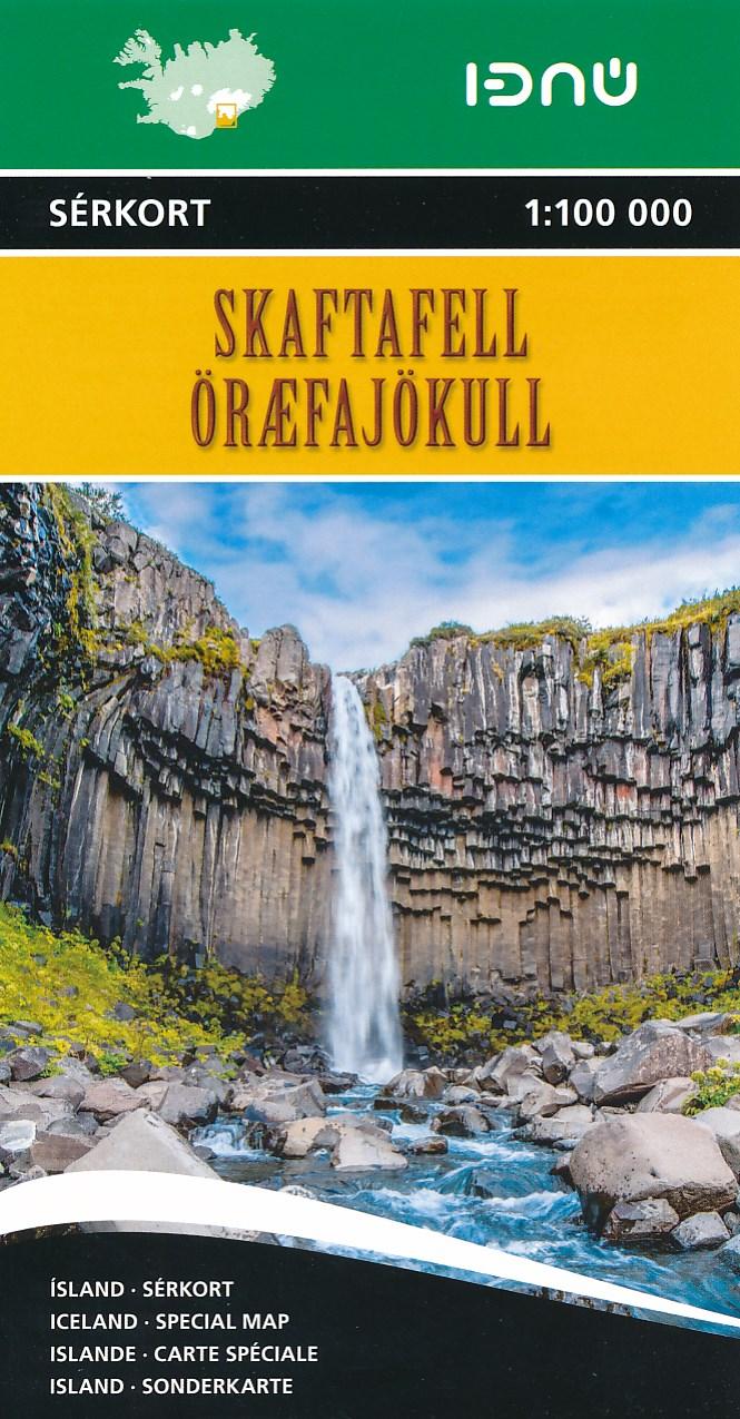 Wandelkaart 6 Skaftafell - IJsland   Ferdakort