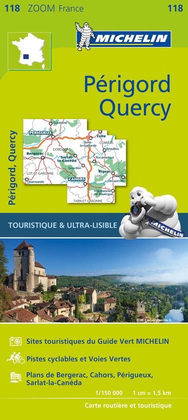 Wegenkaart - landkaart 118 Quercy Perigord Dordogne | Michelin