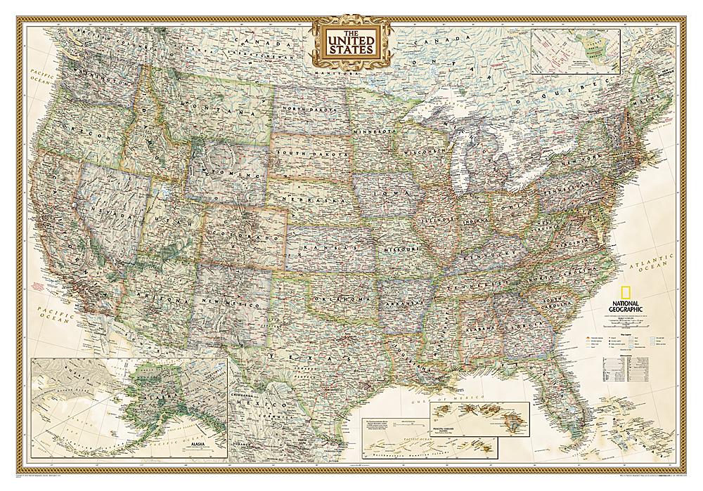 Landkaarten en wegenkaarten Verenigde Staten