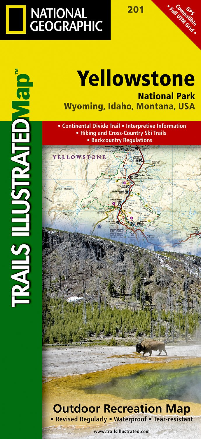 Wandelkaart Topografische kaart 201 Trails Illustrated Yellowstone National Park | National Geographic