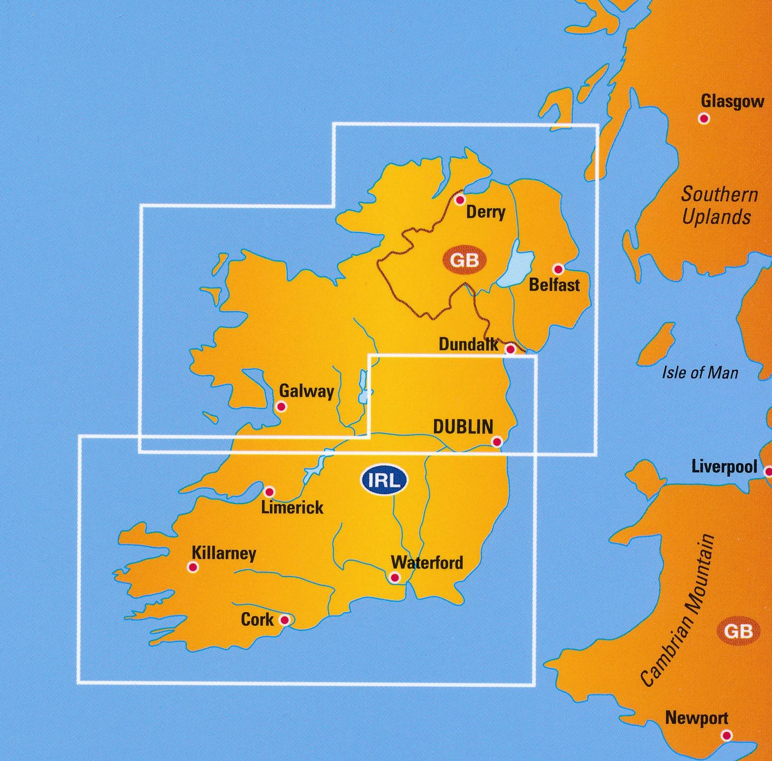 Wegenkaart Landkaart 2 Ierland Anwb Media 9789018042684