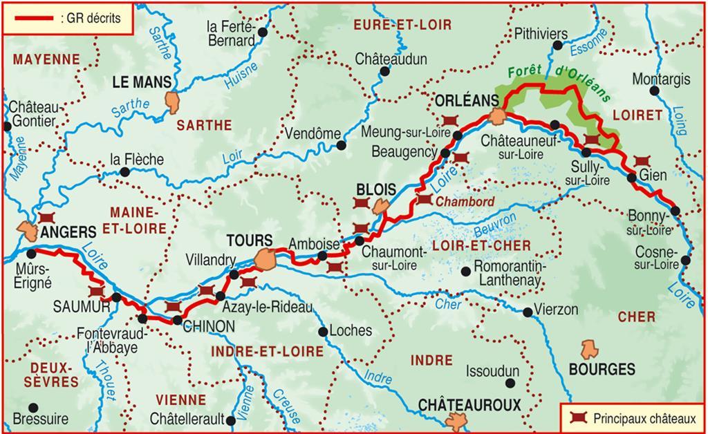 Wandelgids 333 Les Chateaux de la Loire a Pied | FFRP | 9782751407543 | Reisboekwinkel De Zwerver