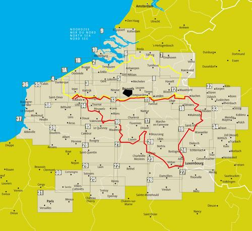 Fietskaart 12 - Aachen-Aken & Hoge Venen - Sportoena