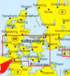 Wegenkaart Landkaart Zuid Jutland Denemarken Zuid Marco Polo