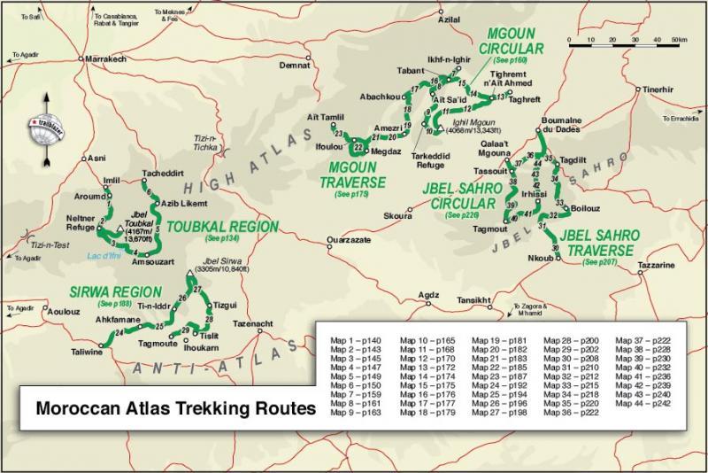 Wandelgids Moroccan Atlas - the trekking guide Marokko ...