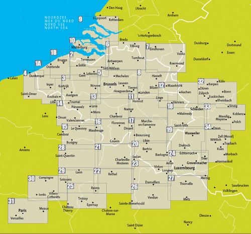 Fietskaart 34 Fietsroute Netwerk Vulkan Eifel Sud Eifel En Mosel