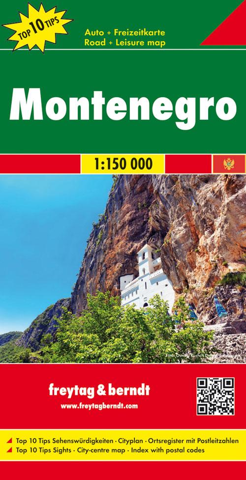 Online bestellen: Wegenkaart - landkaart Montenegro   Freytag & Berndt
