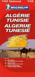 Online bestellen: Wegenkaart - landkaart 743 Algerije - Tunesië   Michelin
