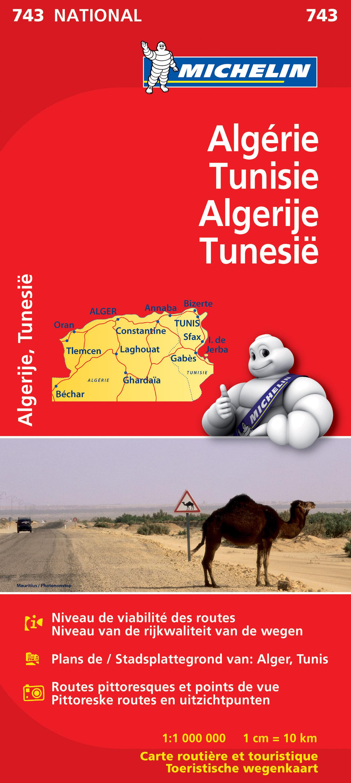 Online bestellen: Wegenkaart - landkaart 743 Algerije - Tunesië | Michelin
