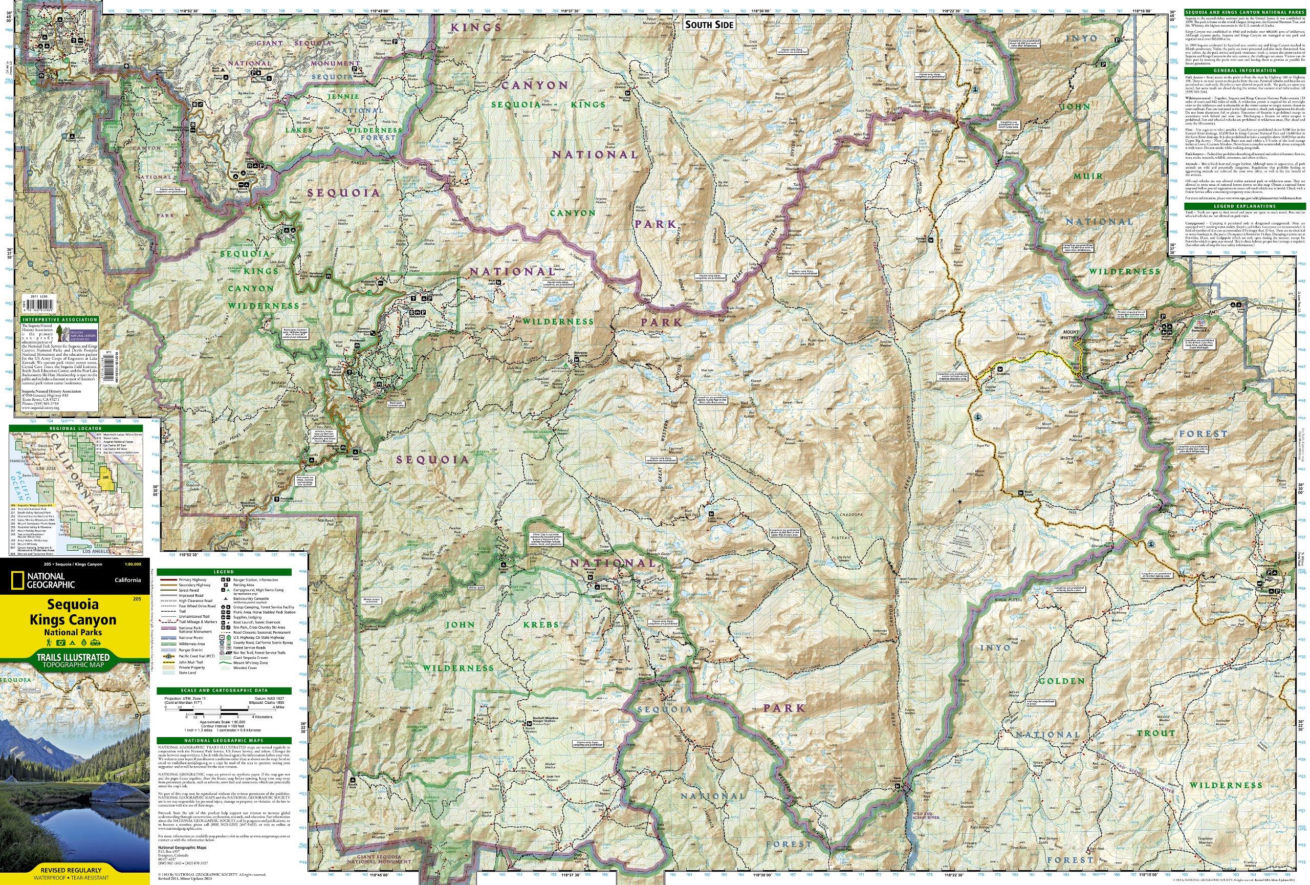 sequoia national park trail map pdf