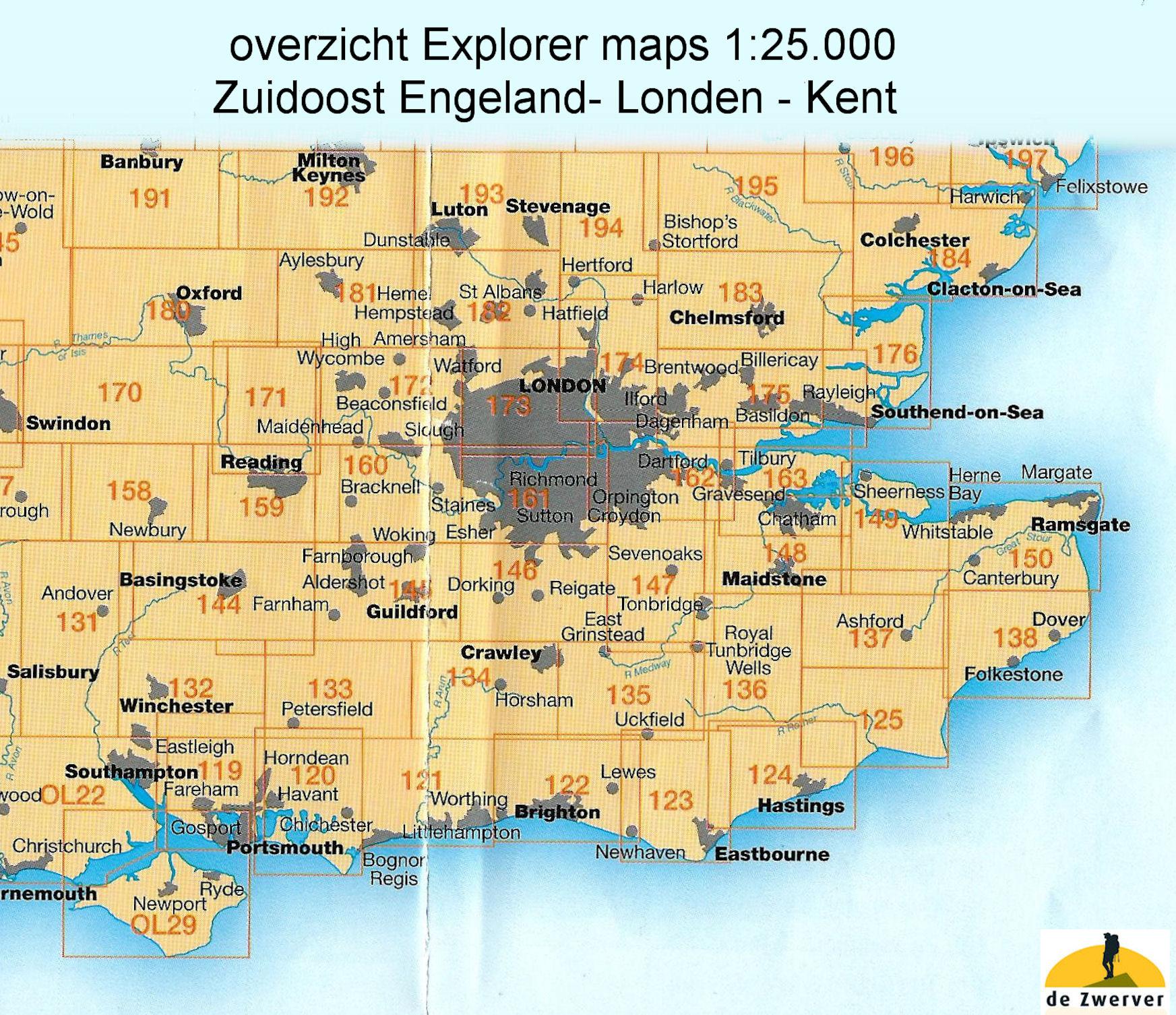 Wandelkaart Topografische Kaart 124 Explorer Hastings Bexhill