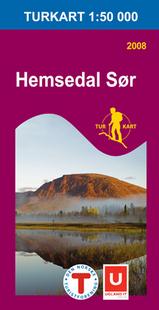 Wandelkaart 2688 Hemsedal Sør Zuid , Topografische Kaart Turkart Noorwegen | Statens Ugland It |