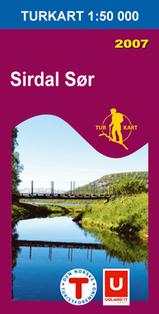 Wandelkaart 2702 Sirdal Sør Zuid , Topografische Kaart Turkart Noorwegen | Statens Ugland It |