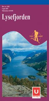 Wandelkaart 2681 Lysefjorden, Topografische Kaart Turkart Noorwegen | Statens Ugland It |