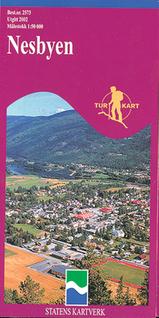 Wandelkaart 2573 Nesbyen Topografische Kaart Turkart Noorwegen | Statens Ugland It |