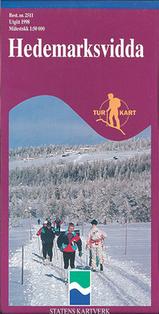 Wandelkaart 2511 Hedemarksvidda Hamar, Topografische Kaart Turkart Noorwegen | Statens Ugland It |