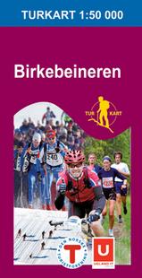 Wandelkaart 2493 Birkebeineren Lillehammer Hamar, Topografische Kaart Turkart Noorwegen   Statens Ugland It  