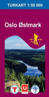 Wandelkaart 2283 Oslo Østmark , Topografische Kaart Turkart Noorwegen | Statens Ugland It |