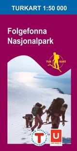 Wandelkaart 2663 Folgefonna nationalpark , Topografische Kaart Turkart Noorwegen | Statens Ugland It |