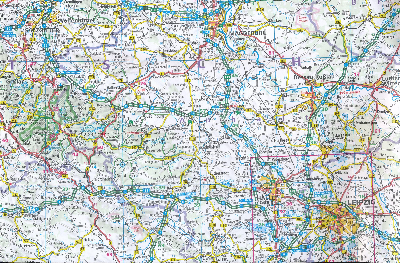 Wegenkaart Landkaart Duitsland Hallwag 9783828309043