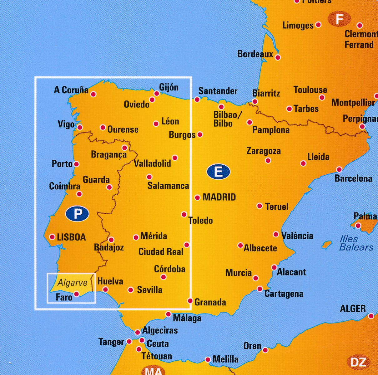 Wegenkaart Landkaart 7 Algarve Portugal Anwb Media