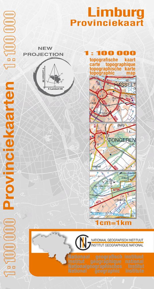 Wegenkaart - landkaart Provinciekaart Limburg - België | NGI - Nationaal Geografisch Instituut