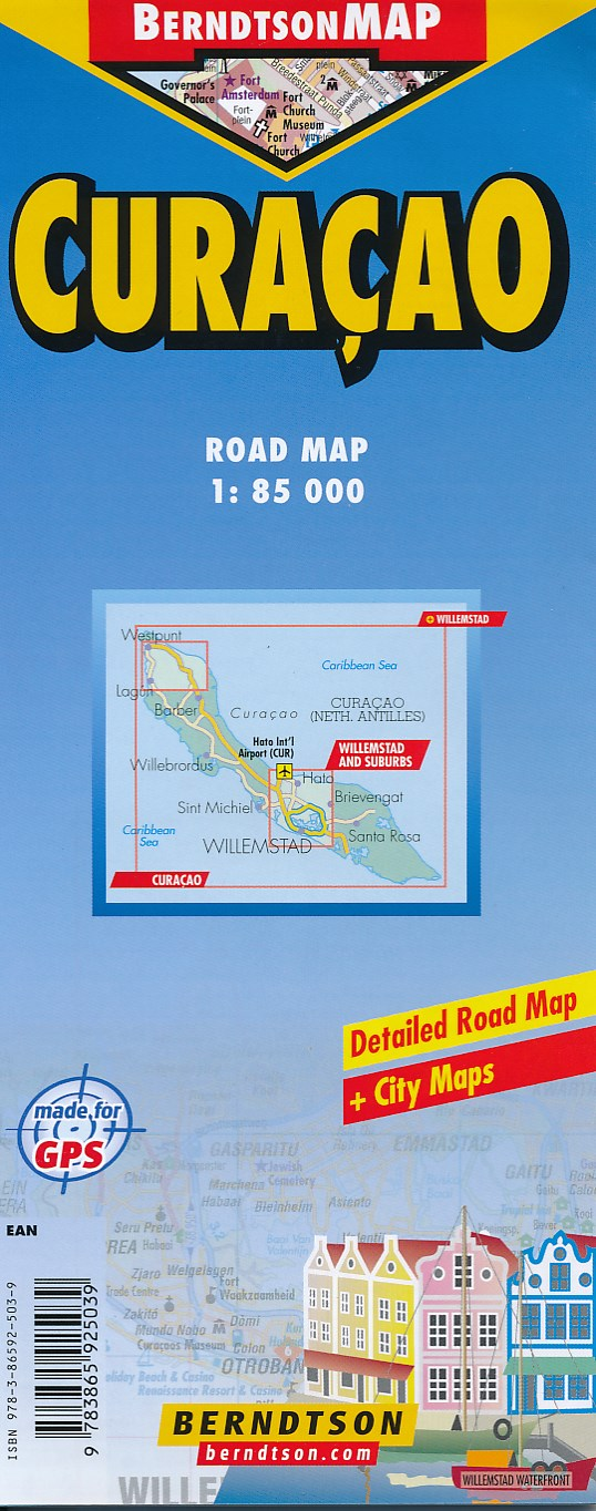 Wegenkaart - landkaart Curacao | Borch