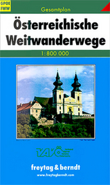 Wegenkaart - landkaart Gesamtplan Österreichische Weitwanderwege | Freytag & Berndt