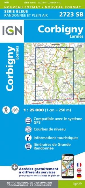 Wandelkaart - Topografische kaart 2723SB Corbigny - Lormes | IGN