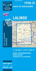 Wandelkaart - Topografische kaart 1936O Lalinde | IGN