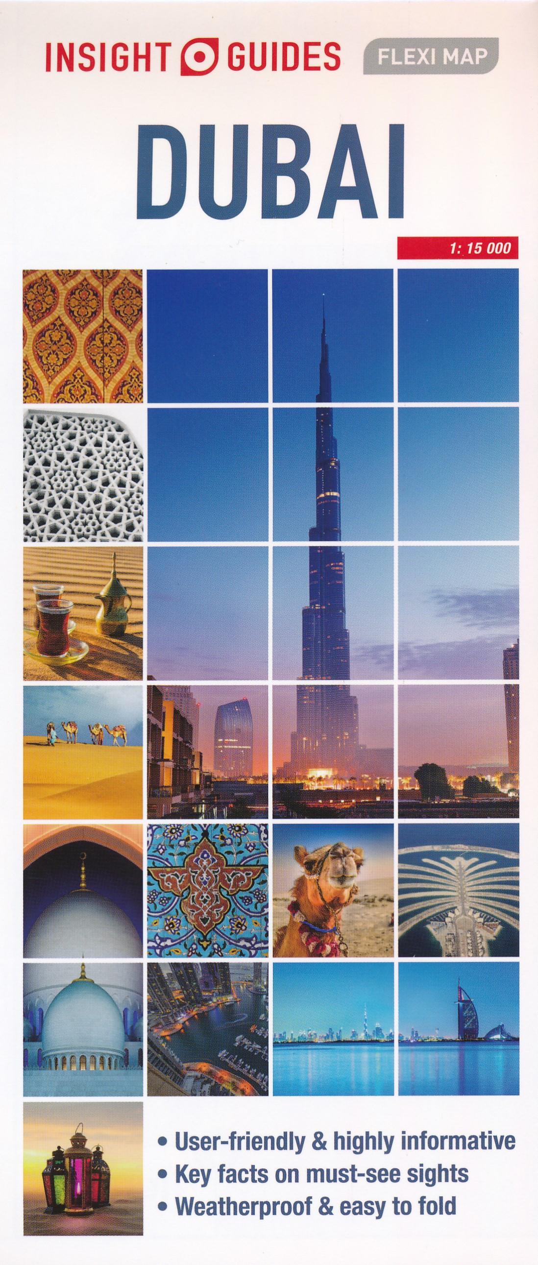 Online bestellen: Wegenkaart - landkaart - Stadsplattegrond Fleximap Dubai | Insight Guides